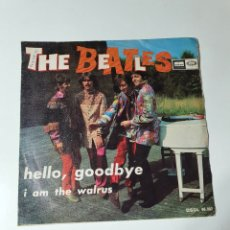 Disques de vinyle: THE BEATLES - HELLO, GOODBYE / I AM THE WALRUS, ODEON 1967. DSOL 66.082.. Lote 226667656