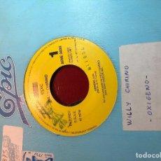 """Discos de vinilo: WILLY CHIRINO – OXÍGENO SELLO: EPIC SOUNDTRAX – ARIE 3035 FORMATO: VINYL, 7"""", 45 RPM, SINGLE SIDED. Lote 226684205"""