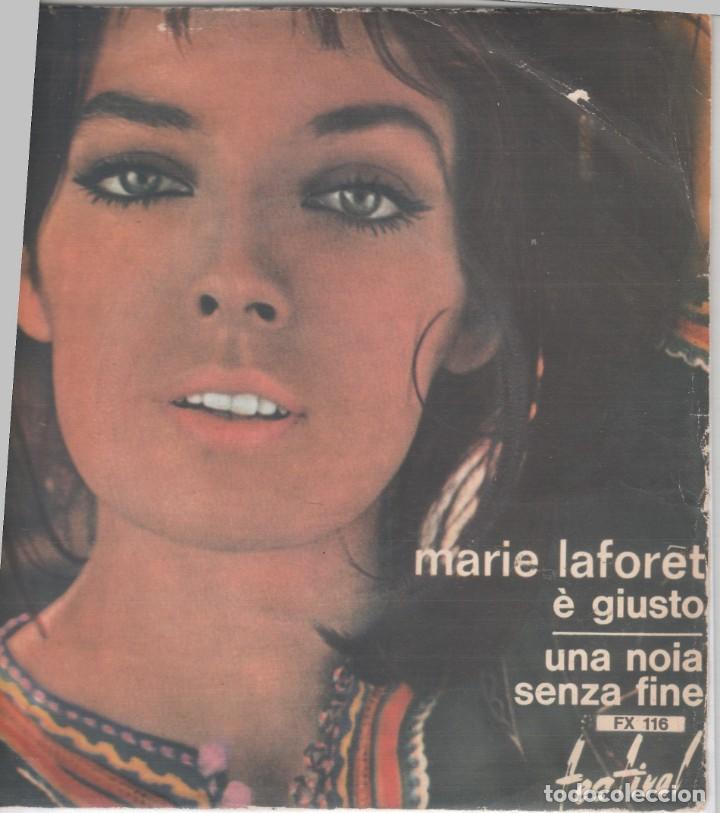 45 GIRI MARIE LAFORET E' GIUSTO /UNA NOIA SENZA FINE LABEL FESTIVAL CANTA IN ITALIANO 1963 ITALY (Música - Discos - Singles Vinilo - Canción Francesa e Italiana)
