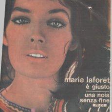 Discos de vinilo: 45 GIRI MARIE LAFORET E' GIUSTO /UNA NOIA SENZA FINE LABEL FESTIVAL CANTA IN ITALIANO 1963 ITALY. Lote 226754870