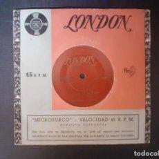 Discos de vinilo: LONDON MANTOVANI Y SU ORQUESTA MICROSURCO COLUMBIA ADIOS MUCHACHOS CHIQUITA MIA CELOS TANGO DE LA R. Lote 226765645