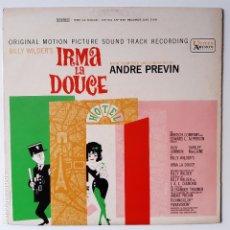Discos de vinilo: IRMA LA DULCE (IRMA LA DOUCE)- BANDA SONORA- USA LP 1963- BILLY WILDER.. Lote 226769550