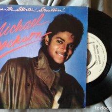 Discos de vinilo: MICHAEL JACKSON - WANNA BE STARTIN' SOMETHING. SINGLE PROMOCIONAL ED. ESPAÑOLA. Lote 226771255