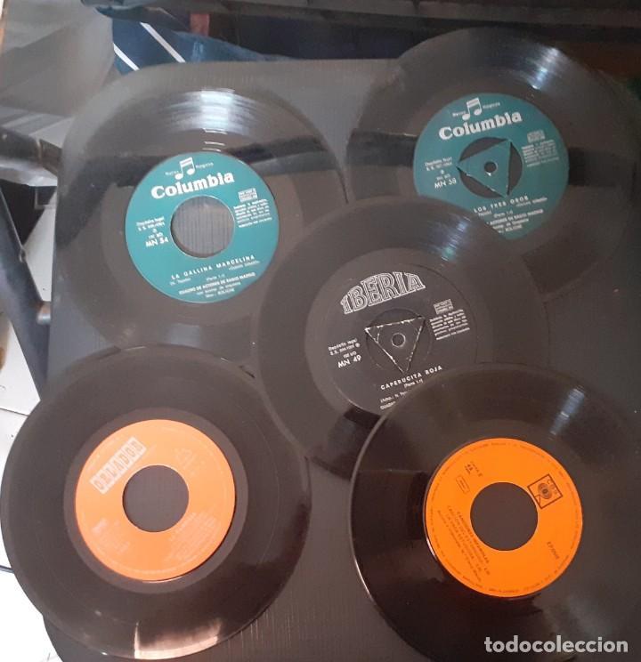 LOTE 5 DISCOS 3 CUENTOS + 2 DISCOS CANCIONES INFANTILES (1 MAXI + 1 SINGLE) VER FOTOS Y DESCRIPCION (Música - Discos de Vinilo - Maxi Singles - Música Infantil)