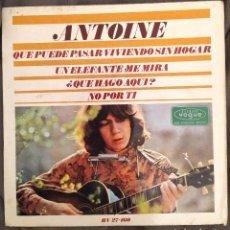 Discos de vinilo: ANTOINE – UN ÉLÉPHANT ME REGARDE. EP EDICIÓN ESPAÑOLA 1966. Lote 226779650