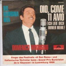 Discos de vinilo: 45 GIRI DOMENICO MODUGNO ICH LIEB DICH IMMER MEHR 5DIO, COME TI AMO )POLYDOR GERMANY. Lote 226786245