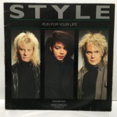Discos de vinilo: STYLE – RUN FOR YOUR LIFE - 1987. Lote 226790350
