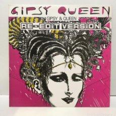 Discos de vinilo: GIPSY AND QUEEN – GIPSY QUEEN (RE-EDIT VERSION) - 1987. Lote 226793145