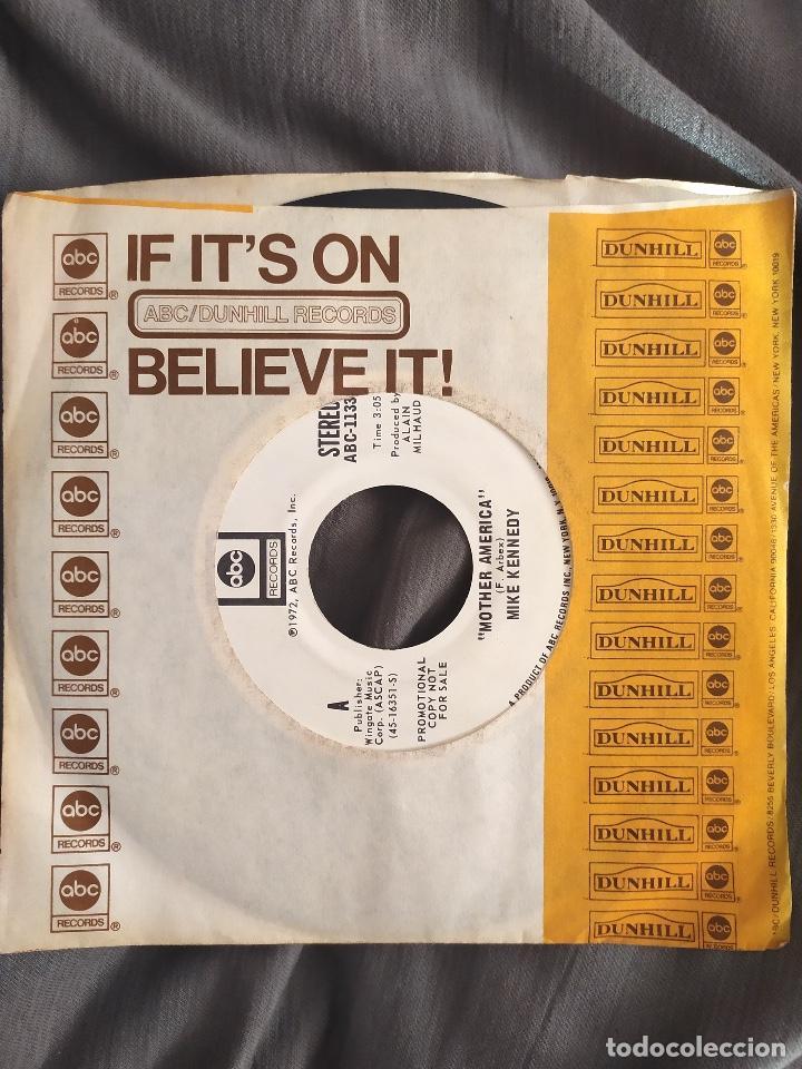 MIKE KENNEDY - MOTHER AMERICA. SINGLE PROMOCIONAL EDICIÓN USA (Música - Discos - Singles Vinilo - Solistas Españoles de los 70 a la actualidad)