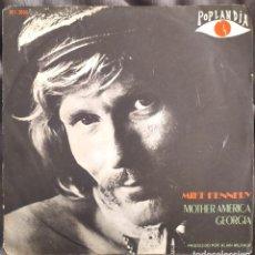 Discos de vinilo: MIKE KENNEDY - MOTHER AMERICA. SINGLE EDICIÓN BRASILEÑA. Lote 226794710
