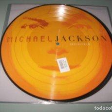 Discos de vinilo: MICHAEL JACKSON - INVINCIBLE + 2 PICTURE - 2 LP´S - TOTALMENTE NUEVO - VINILOS COLOR. Lote 226801475