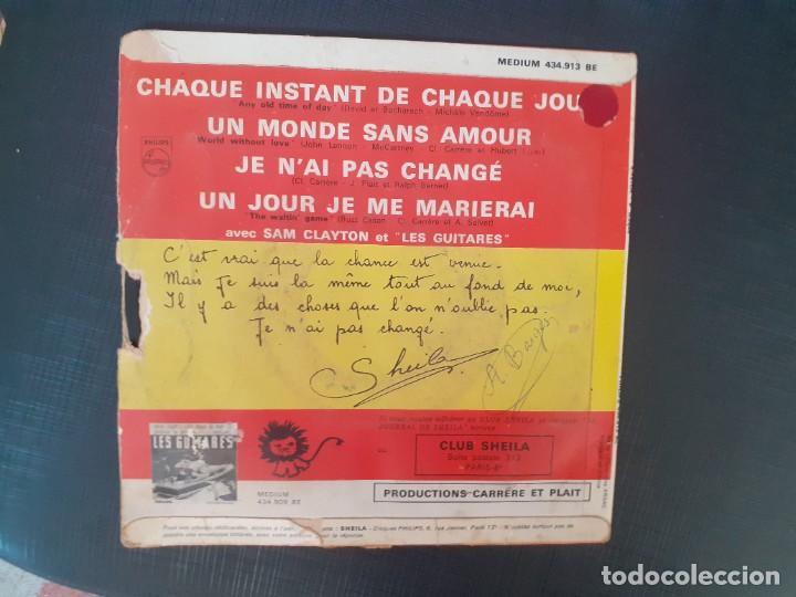 Discos de vinilo: SHEILA 6. DISQUE PHILIPS MAXI CHAQUE INSTANT DE CHAQUE JOUR + UN MONDE SANS AMOUR + JE N´AI PAS CHAN - Foto 2 - 226802665