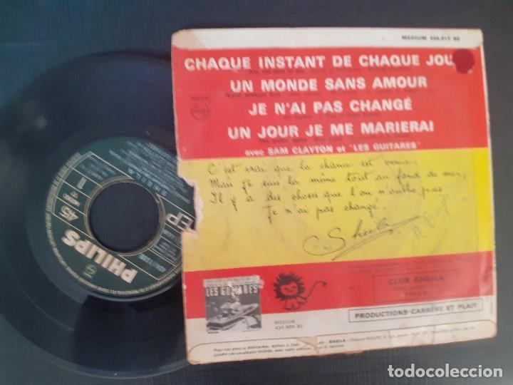 Discos de vinilo: SHEILA 6. DISQUE PHILIPS MAXI CHAQUE INSTANT DE CHAQUE JOUR + UN MONDE SANS AMOUR + JE N´AI PAS CHAN - Foto 4 - 226802665