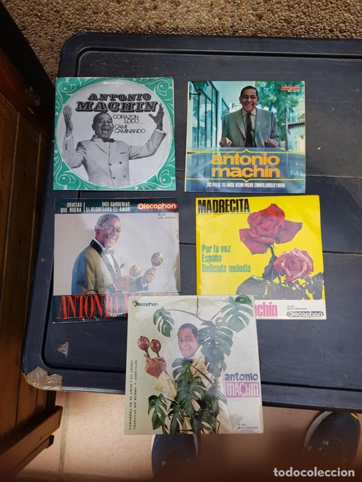 ANTONIO MACHIN LOTE DE 5 DISCOS PERFECTO ESTADO OPORTUNIDAD COLECCIONISTAS (Música - Discos - Singles Vinilo - Solistas Españoles de los 50 y 60)