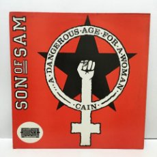 Discos de vinilo: SON OF SAM ‎– A DANGEROUS AGE FOR A WOMAN - 1987. Lote 226869990
