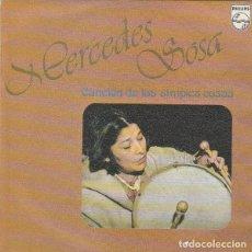 Discos de vinilo: MERCEDES SOSA / CANCION DE LAS SIMPLES COSAS / CUANDO MUERE EL ANGELITO (SINGLE SPAIN 1979). Lote 226871649