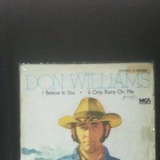 Discos de vinilo: DON WILLIAMS - I BELIEVE IN YOU. Lote 226880190