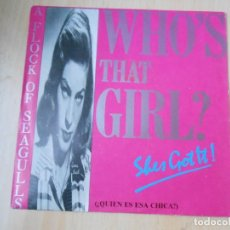Discos de vinilo: A FLOCK OF SEAGULLS, SG, WHO´S THAT GIRL (SHE´S GOT IT) + 1, AÑO 1985 PROMO. Lote 226902655