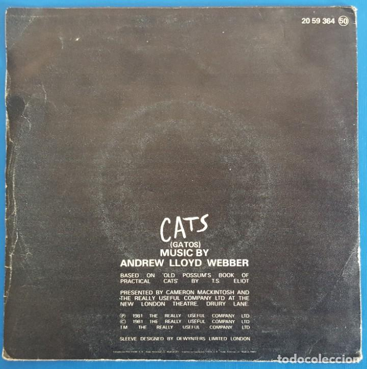 Discos de vinilo: SINGLE / ELAINE PAIGE / THEME FROM THE MUSICAL CATS - MEMORY - OVERTURE / POLYDOR 20 59 364 / 1981 - Foto 2 - 226902750