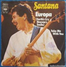 Discos de vinilo: SINGLE / SANTANA / EUROPA - TAKE ME WITH YOU / CBS S 4143 / 1976 ALEMANIA. Lote 226903900