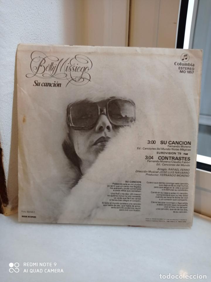 Discos de vinilo: SINGLE BETTY MISSIEGO. SU CANCION - CONTRASTES. EUROVISION 1979 - Foto 2 - 226930930