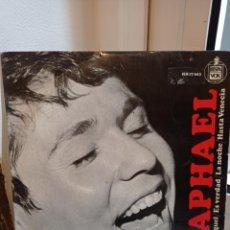 Discos de vinilo: SINGLE RAPHAEL. YO SOY AQUEL- ES VERDAD- LA NOCHE - HASTA VENECIA. Lote 226930995