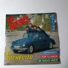 Discos de vinilo: THE BRISKS - EL COCHECITO/ESPERANDO/POR TU AMOR/UN NUEVO AMOR, BELTER 1965.. Lote 226934430