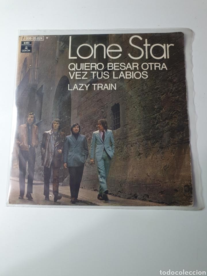 LONE STAR - QUIERO BESAR OTRA VEZ TUS LABIOS / LAZY TRAIN, ODEON 1970. (Música - Discos - Singles Vinilo - Grupos Españoles 50 y 60)