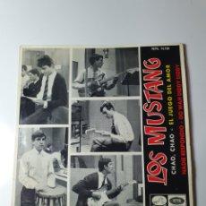 Discos de vinilo: LOS MUSTANG - CHAO CHAO / EL JUEGO DEL AMOR / NADIE RESPONDIO / DO WAN DIDDY DIDDY, EMI 1965.. Lote 174875595