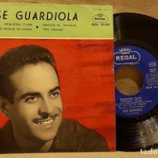 Discos de vinilo: JOSÉ GUARDIOLA - PEQUEÑA FLOR - MIS BESOS TE DIRAN - MACKIE EL NAVAJA - TEN PIEDAD. Lote 226942555