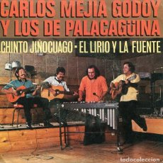 Discos de vinilo: CARLOS MEJIA GODOY Y LOS DE PALACAGÜINA / CHINTO JIÑOCUAGO / EL LIRIO Y LA FUENTE (SINGLE 1980). Lote 226945050