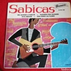Discos de vinilo: SABICAS - DEL ALOSNO A HUELVA EP 1962 BRUNSWICK - MUY RARO. Lote 226947565