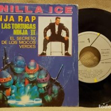 Discos de vinilo: VANILLA ICE - NINJA RAP - LAS TORTUGAS NINJA II. Lote 226952105