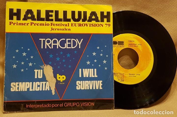 HALELLUJAH/ TRAGEDY - EUROVISION 7 (Música - Discos de Vinilo - EPs - Festival de Eurovisión)