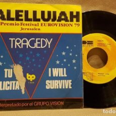 Discos de vinilo: HALELLUJAH/ TRAGEDY - EUROVISION 7. Lote 226953590