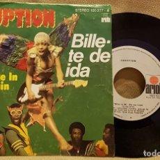 Discos de vinilo: ERUPTION - LEFT ME IN THE RAIN. Lote 226956450