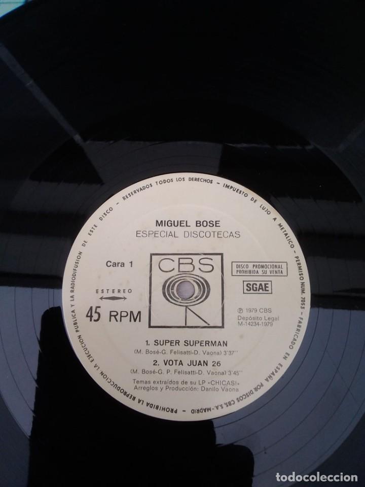 Discos de vinilo: DISCO DE VINILO MIGUEL BOSE ESPECIAL CHICAS CON SUPER SUPERMAN CBS 1979 - Foto 3 - 226956955