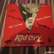 Disques de vinyle: EP KID ORY DIXIELAND JUBILEE HISPAVOX 2720 JAZZ. Lote 226968375