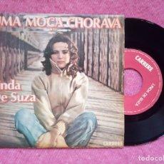 Discos de vinilo: SINGLE LINDA DE SUZA - UMA MOÇA CHORAVA / LA FILLE QUI PLEURAIT - 6061 227 - PORTUGAL PRESS (EX/NM). Lote 226981600