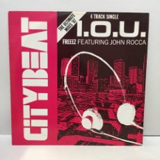 Discos de vinilo: FREEEZ FEATURING JOHN ROCCA ‎– I.O.U. (THE ULTIMATE MIXES '87) - 1987. Lote 226986220