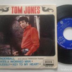 Discos de vinilo: TOM JONES - THUNDERBALL +3 - EP DECCA ESPAÑA 1965. Lote 226995915