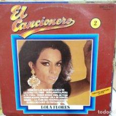 Discos de vinilo: LOLA FLORES - EL CANCIONER, Nº 2 - LP. SELLO BELTER 1979. Lote 226998645