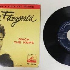 "Discos de vinil: 1120- ELLA FITZGERALD MACK THE SNIFE - VIN 7"" POR G+ DIS VG+. Lote 226999620"