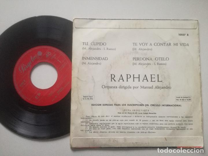 Discos de vinilo: RAPHAEL - Tu Cupido +3 -EP PERGOLA 1966 - Foto 2 - 226999950