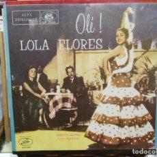 Discos de vinilo: LOLA FLORES CON ORQUESTA DE MANUEL MATOS - OLÉ! - LP. DEL SELLO SEECO. Lote 227001050
