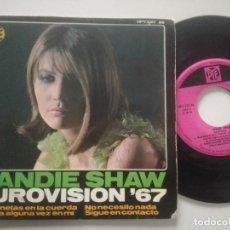 Discos de vinilo: SANDIE SHAW - EUROVISION '67 - EP PYE 1967. Lote 227002080