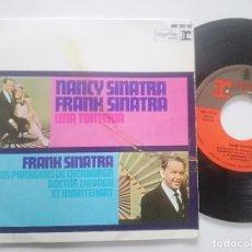 Discos de vinilo: NANCY SINATRA FRANK SINATRA - LOS PARAGUAS DE CHERBURGO - EP REPRISE ESPAÑA 1967. Lote 227007290