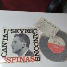Discos de vinilo: ESPINÁS CANTA LES SEVES CANÇONS - GERMÁ/L'ESTUDIANT I EL MATÍ D'HIVERN/L'AGENDA/A LA VORA DE LA NIT.. Lote 227013145
