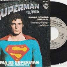 Discos de vinilo: TEMA DE SUPERMAN - JOHN WILLIAMS (SINGLE WB 1978 ESPAÑA). Lote 227015885
