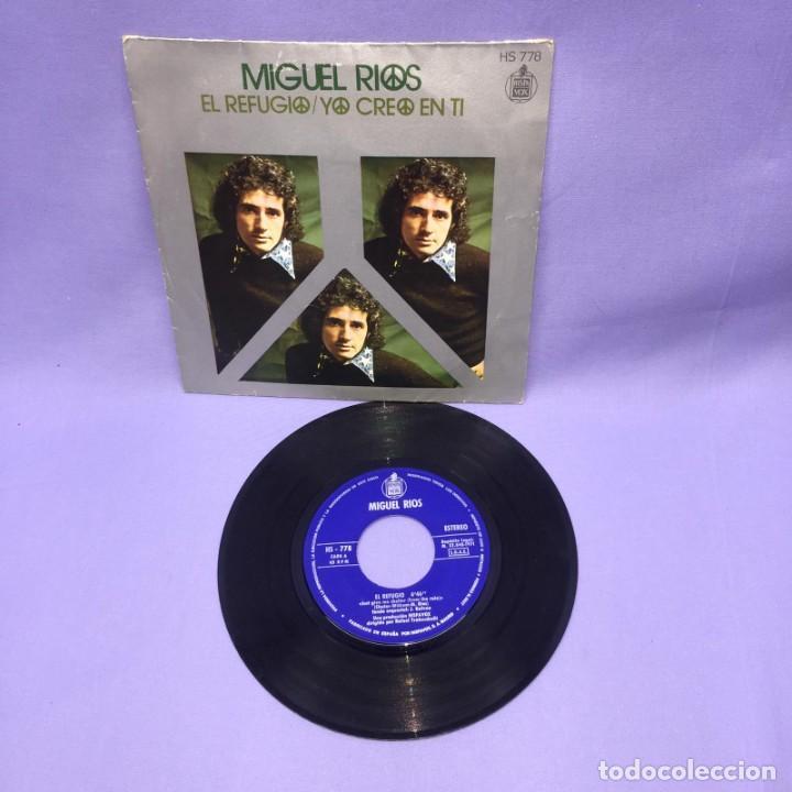 SINGLE MIGUEL RIOS -- EL REFUGIO / YO CREO EN TI -- MADRID -- VG++ (Música - Discos - Singles Vinilo - Solistas Españoles de los 50 y 60)